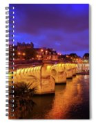 Pont Neuf At Night Spiral Notebook