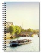 Pont Neuf In Sunset Light Spiral Notebook