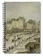 Pont Neuf Snow Effect Spiral Notebook