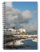 Ponta Delgada Waterfront Spiral Notebook