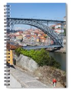 Ponte Luiz I Between Porto And Gaia In Portugal Spiral Notebook