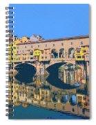 Ponte Vecchio Florence Spiral Notebook