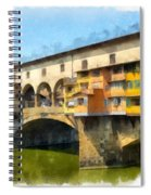 Ponte Vecchio Florence Italy Spiral Notebook