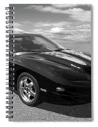 Pontiac Trans Am Ram Air In Black And White Spiral Notebook