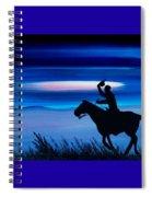 Pony Express Rider Blue Spiral Notebook