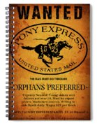 Pony Express Wanted Poster Spiral Notebook
