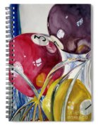 Pool Balls In A Vase Spiral Notebook