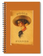 Poole Pianos Retro Spiral Notebook