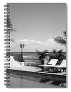 Poolside B-w Spiral Notebook