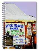 Poor Monkey's Juke Joint Spiral Notebook