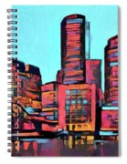 Pop Art Boston Skyline Spiral Notebook