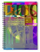Pop-art Colorized One Hundred Euro Bill Spiral Notebook