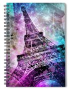 Pop Art Eiffel Tower Spiral Notebook
