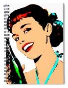Pop Art Girl With Soda Bottle Spiral Notebook