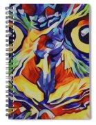 Pop Art Owl Face-1 Spiral Notebook