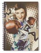 Pop Art Photo Illustration. Cartoon Comic Boxer Spiral Notebook