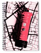 Pop Art Pillar Post Box Spiral Notebook