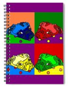 Pop Art Pug Spiral Notebook