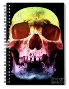 Pop Art Skull Face Spiral Notebook