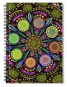 Pop Mandala Golden Spiral Notebook