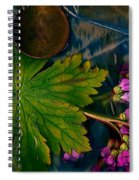 Popart With Fantasy Flowers Spiral Notebook