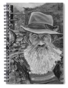 Popcorn Sutton - Black And White - Rocket Fuel Spiral Notebook