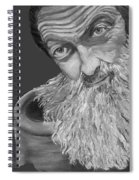 Popcorn Sutton Black And White Transparent - T-shirts Spiral Notebook