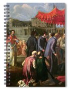 Pope Clement Xi In A Procession In St. Peter's Square In Rome Spiral Notebook
