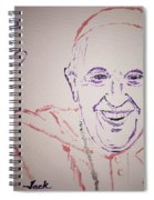 Pope Francis Waves Spiral Notebook