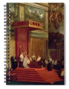 Pope Pius Vii Luigi Barnaba Chiaramonti Attending Chapel 1820 Spiral Notebook