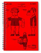 Popeye Doll Patent 1932 In Red Spiral Notebook