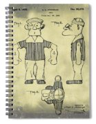 Popeye Doll Patent 1932 In Weathered Spiral Notebook