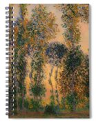 Poplars At Giverny - Sunrise Spiral Notebook