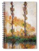 Poplars, Autumn Spiral Notebook