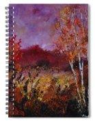 Poplars In Autumn  Spiral Notebook
