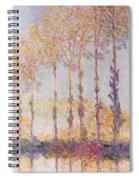 Poplars On The Banks Of The Epte Spiral Notebook