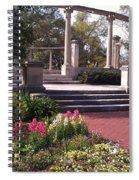 Popp Fountain Brickway Path Spiral Notebook