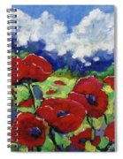 Poppies 003 Spiral Notebook