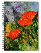 Poppies 107 Spiral Notebook