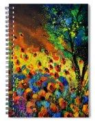 Poppies 456150 Spiral Notebook