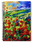 Poppies 78 Spiral Notebook