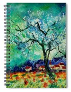 Poppies And Appletrees In Blossom Spiral Notebook
