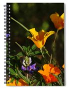 Poppies And Bluebells Spiral Notebook