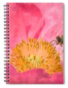 Poppies And Bumble Bee Spiral Notebook