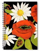 Poppies And Camomiles, Oil Painting Spiral Notebook