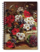 Poppies And Daisies  Spiral Notebook