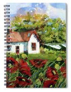 Poppies And Laundry Spiral Notebook