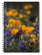 Poppies And Lupines  Spiral Notebook