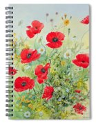 Poppies And Mayweed Spiral Notebook