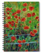 Poppies And Traverses 1 Spiral Notebook